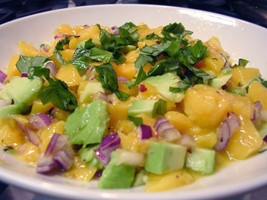 Avocado peach salsa small