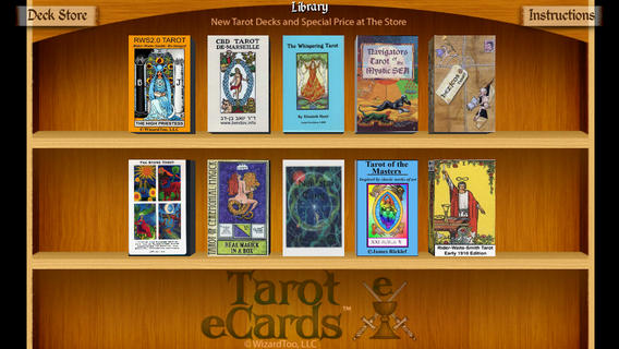 Tarot eCards Shelf