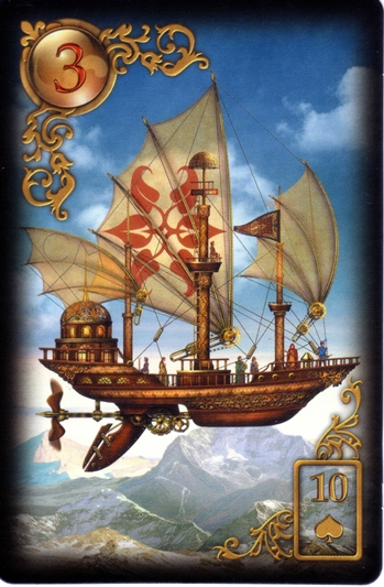 Gilded ship