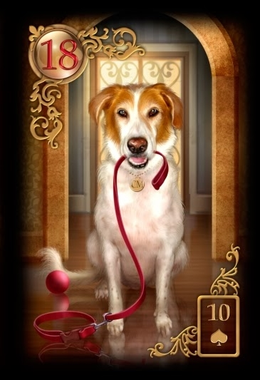 Gilded dog