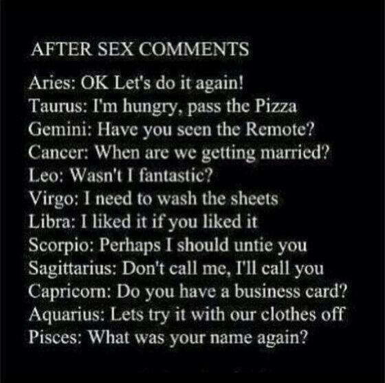 Sex star signs