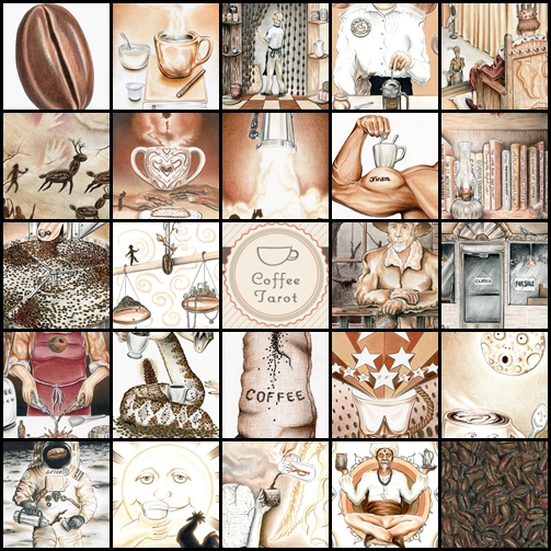 Coffee Tarot Montage