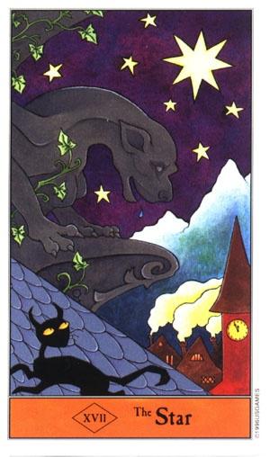 Halloween tarot star card