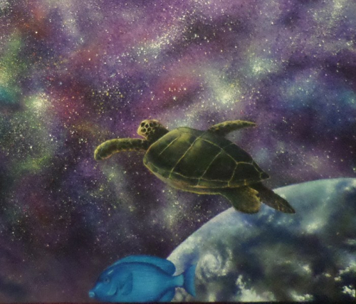 Underwater Universe Cropped Turtle